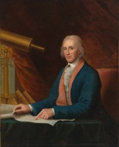 David Rittenhouse posthumous portrait Artist: Charles Willson Peale, 1796