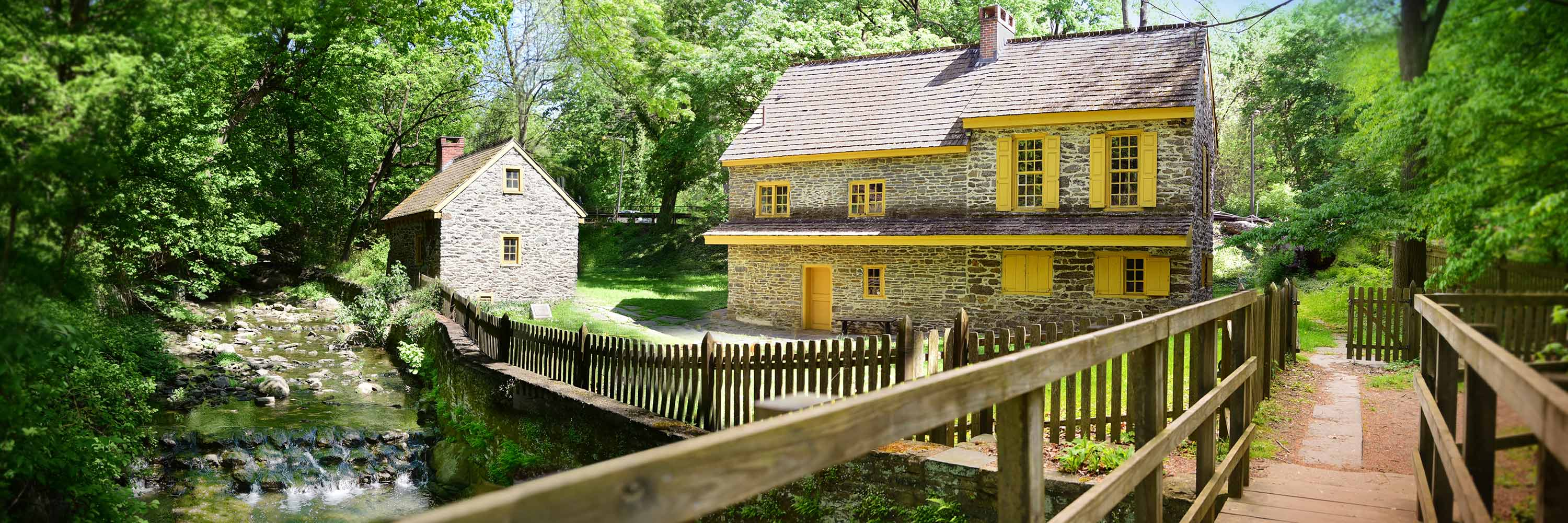 Rittenhouse Homestead and Bakehouse along Paper Mill Run