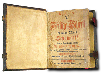 Sample 1700s German bible